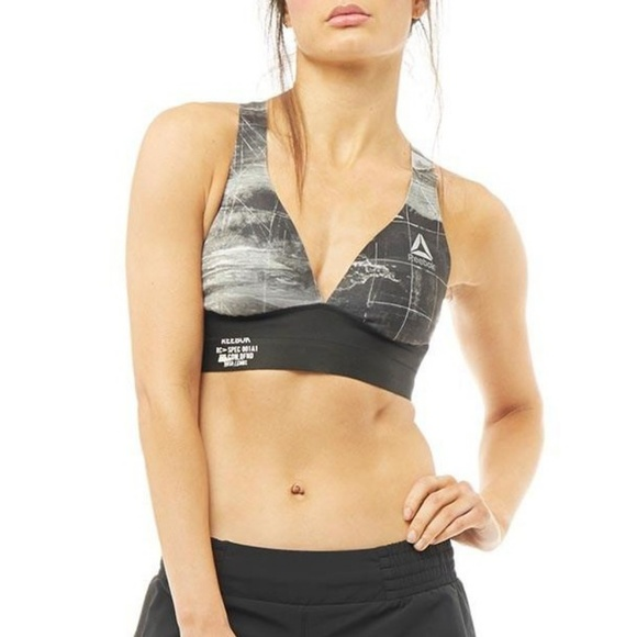07134c4f73 Reebok Gray Combat Smoothgrip Sports Bra speedwick